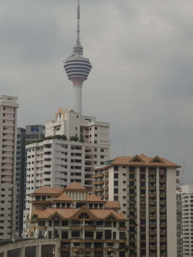 View from hotel room at the Royal Bintang hotel Kuala Lumpur