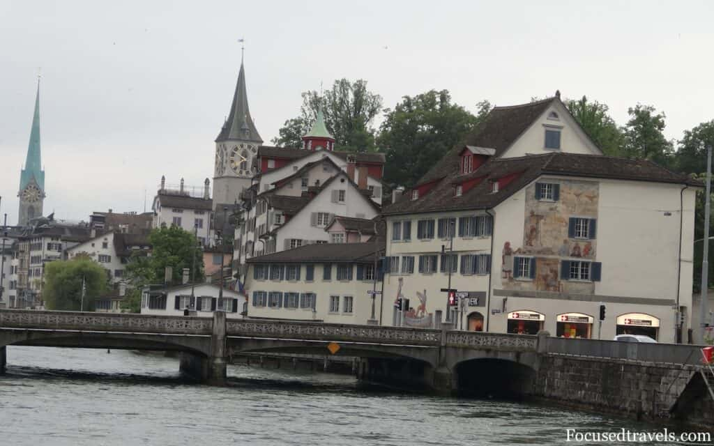 Zurich Bridge with lovers' locks