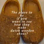 The making of Dutch wooden shoes at Zaanse Schans
