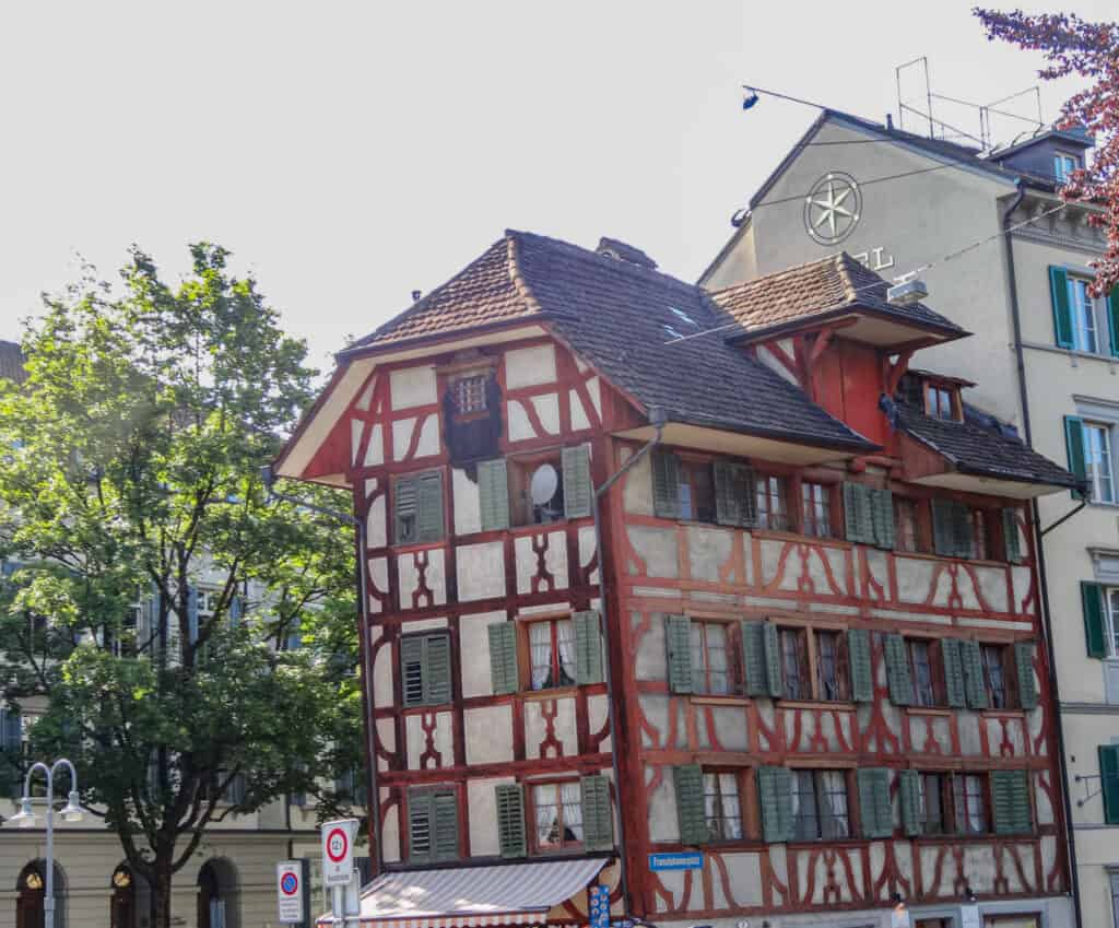Traditional building in Lucerne, Switzerland