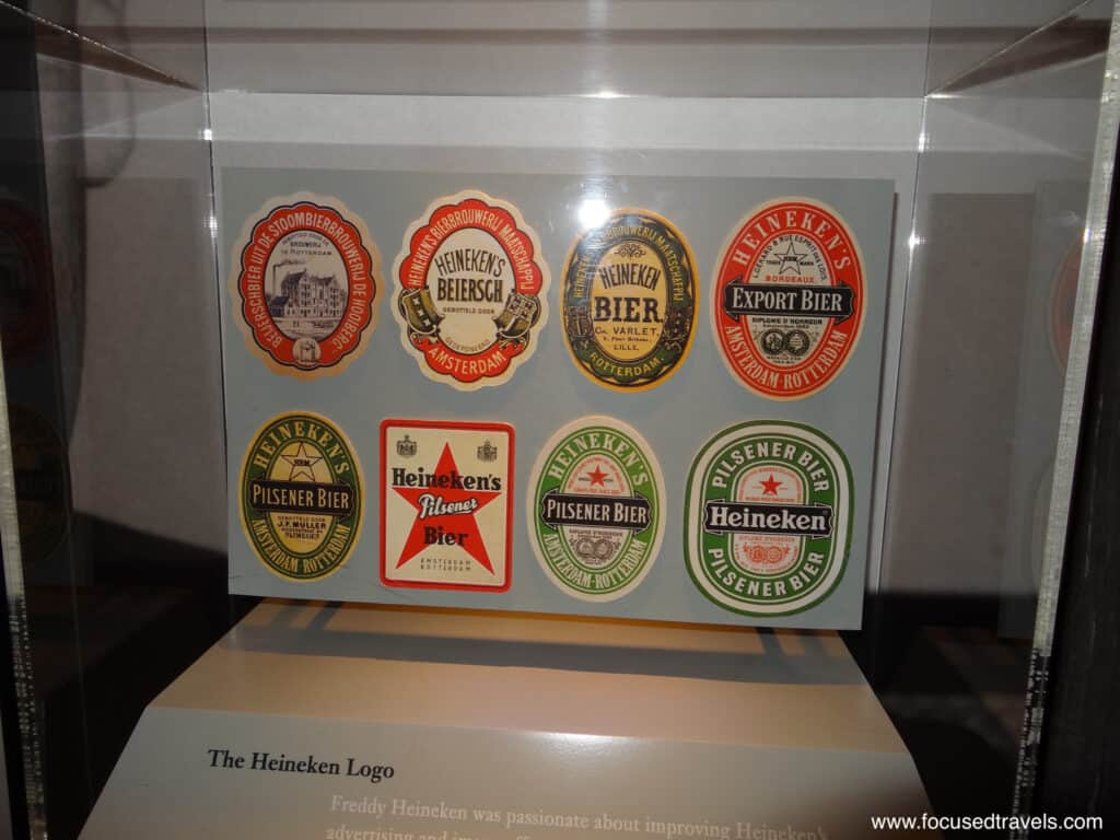 How the Heineken logo changed over time