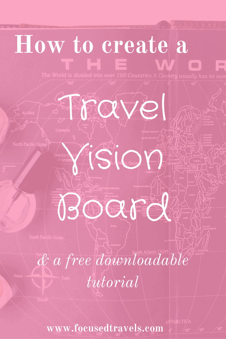 Travel vision board pin