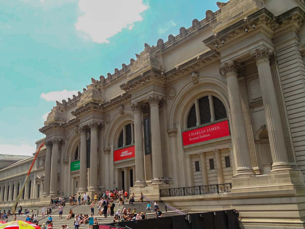 The Metropolitan Museum of Art in New York as seen from the city sightseeing bus