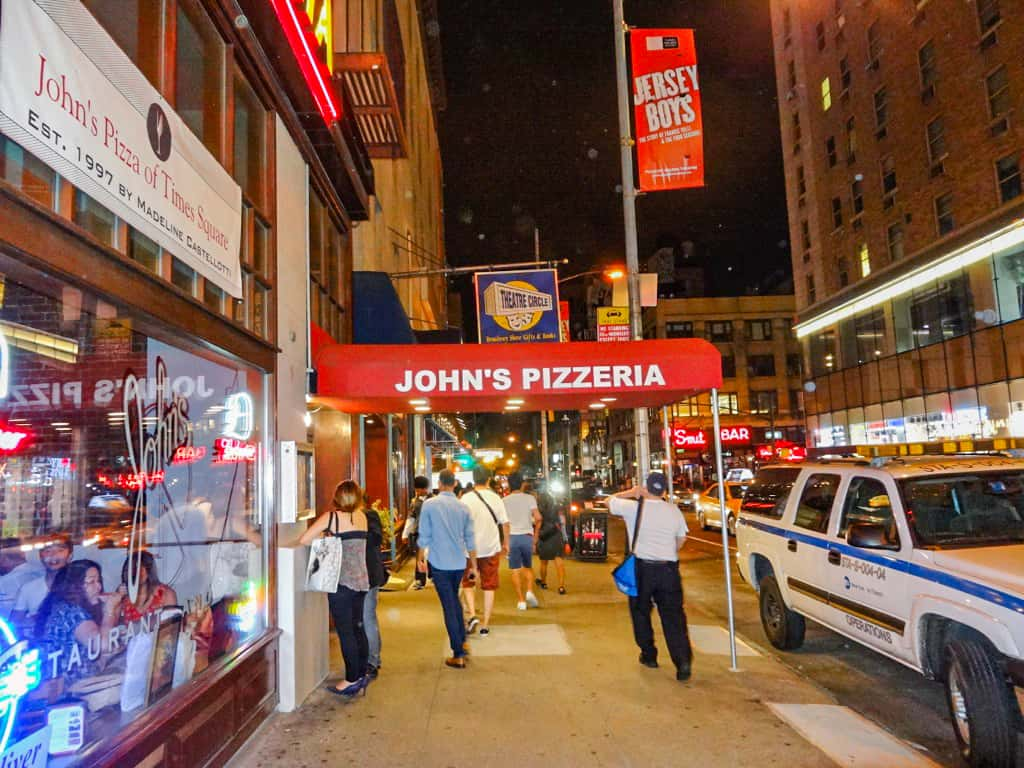 John's Pizzeria near Times Square