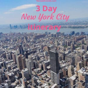 3 day New York itinerary