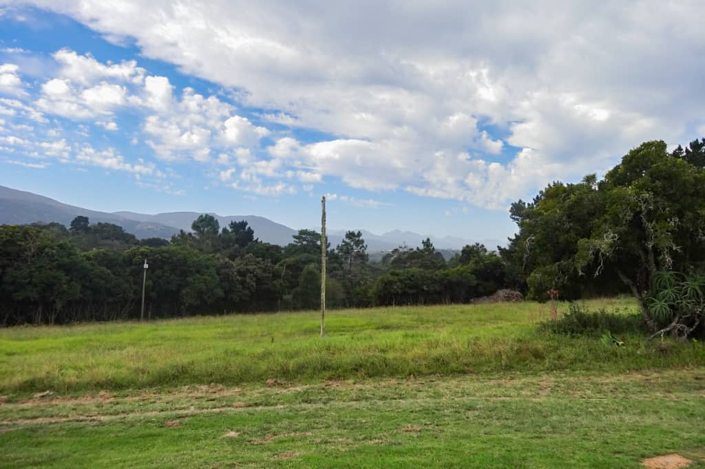 The land around the farmhouse near Wilderness, South Africa