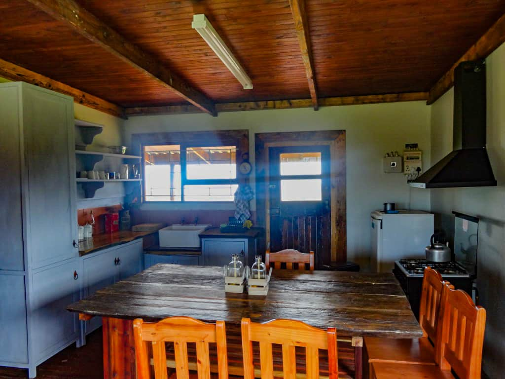 The farmhouse in Wilderness, South Africa's kitchen