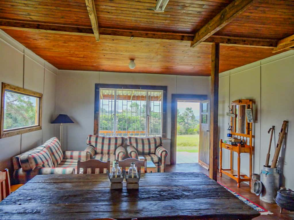 The living room of the farmhouse near Wilderness South Africa