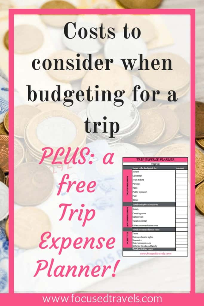 Trip expense planner