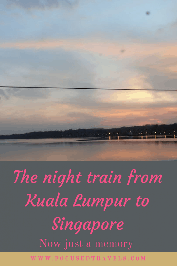 Night train from Kuala Lumpur to Singapore