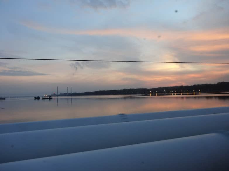 Night train from Kuala Lumpur to Singapore - scenery along the way