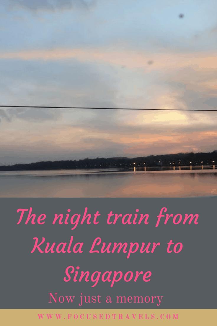 Night train from Kuala Lumpur to Singapore