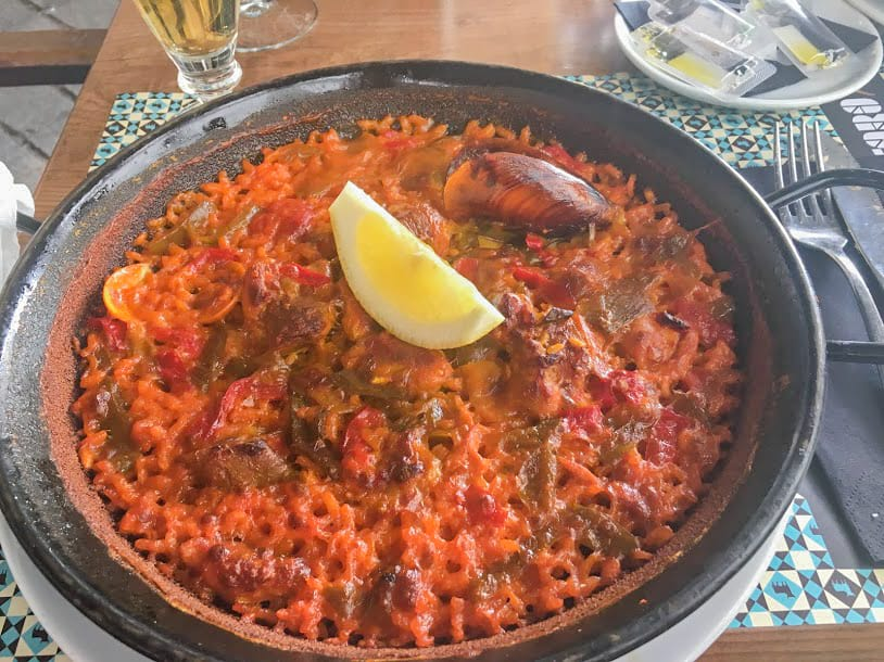 Layover in Madrid - Paella