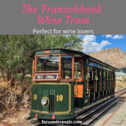 The Franschhoek wine tram: a charming wine tasting experience