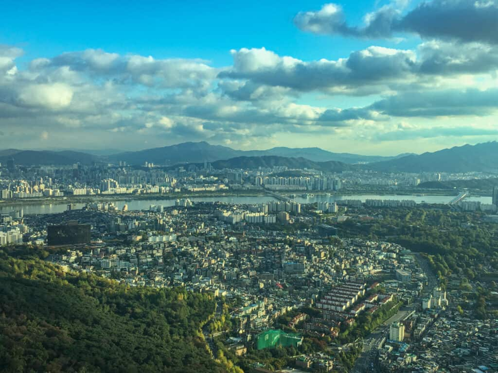 Namsan Seoul Tower - beautiful views from the top