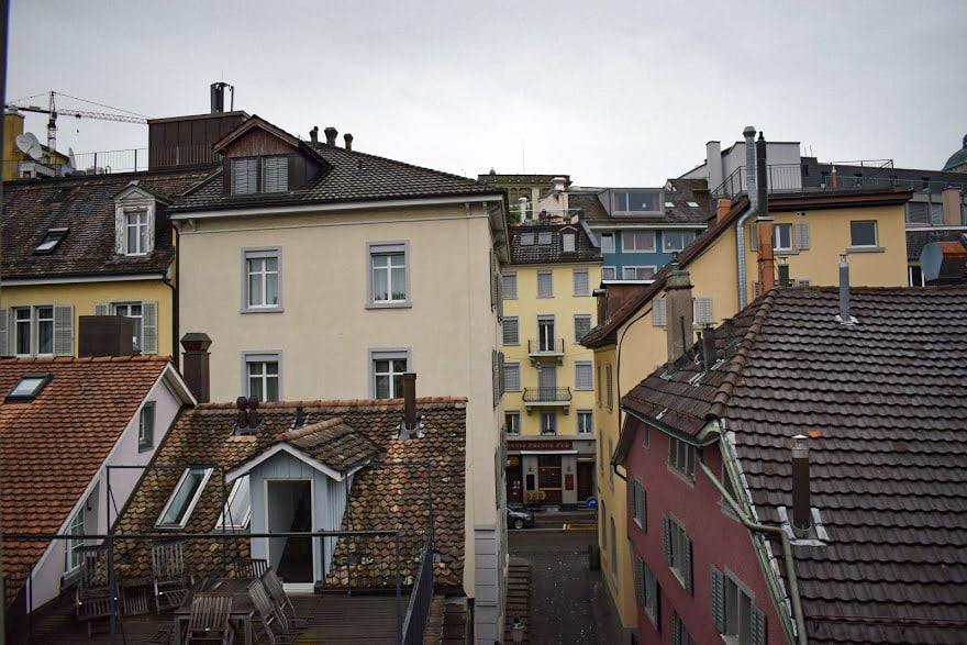 Hotel Limmatblick Zurich - the view from our room