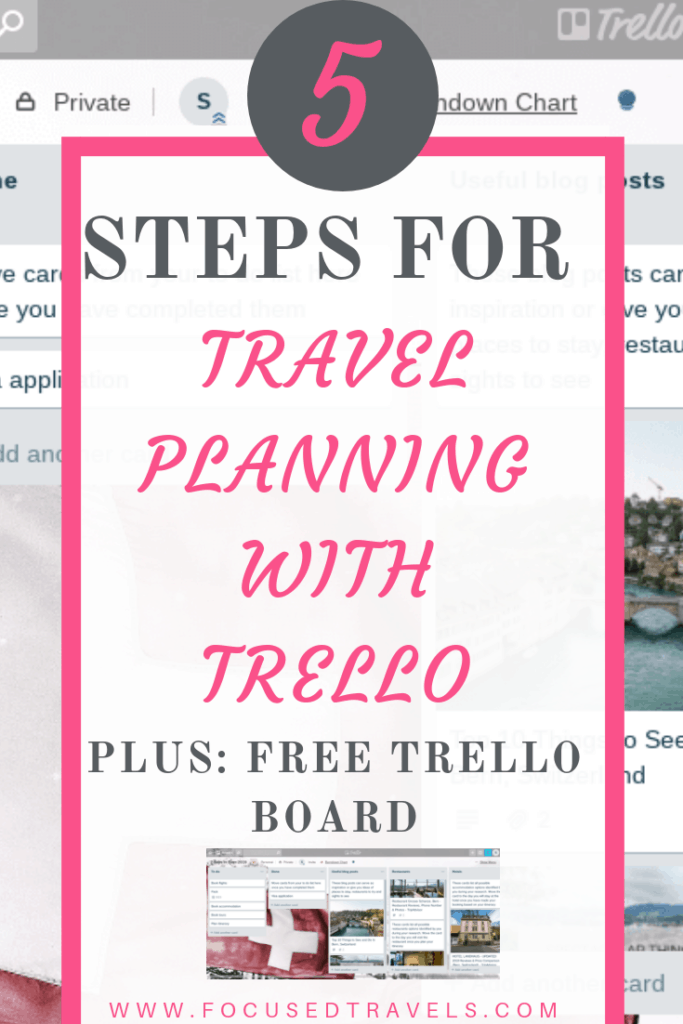5 Steps for travel planning with Trello