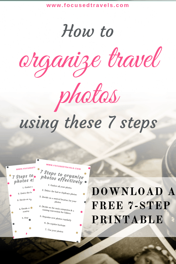 Organize Photos with Focused Travels