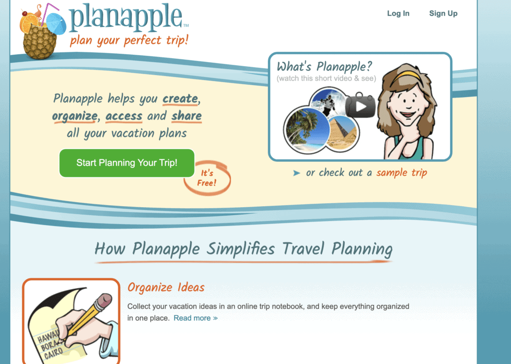 Planapple - resource for itinerary planning