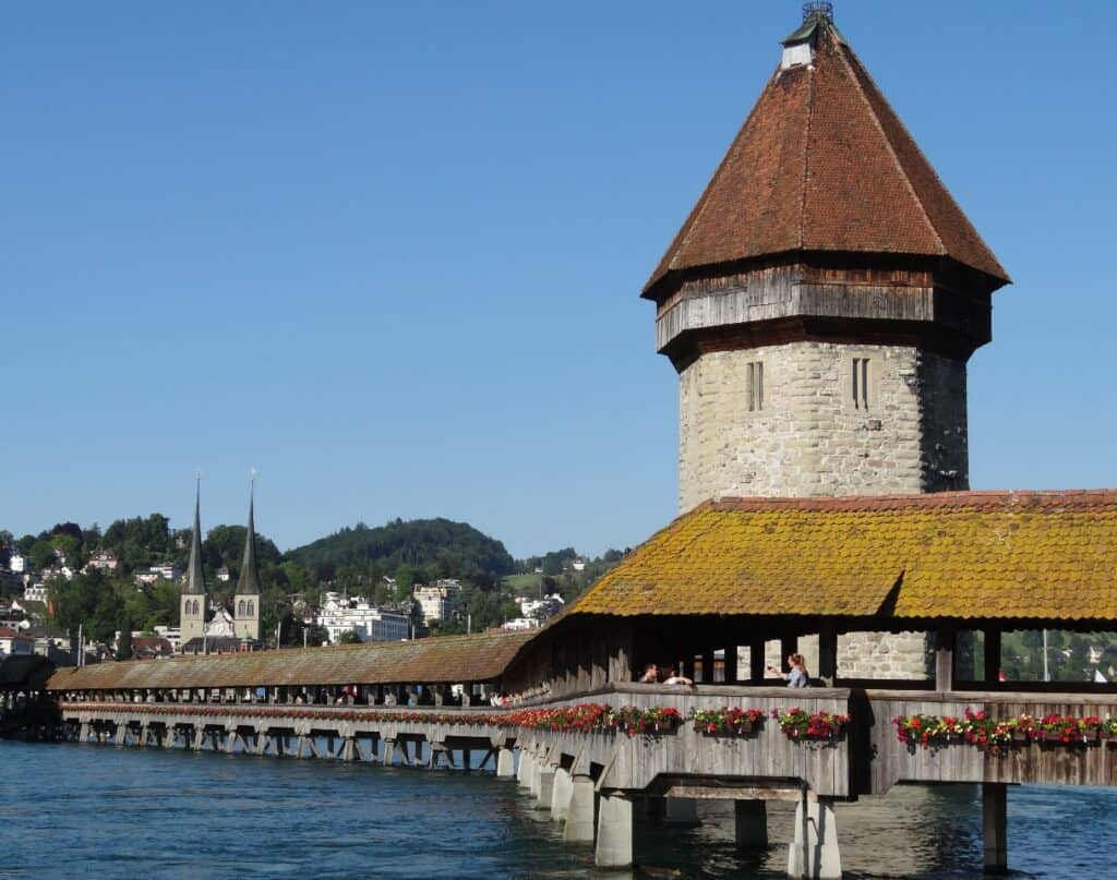 Chapel Bridge in Lucerne - one of the most famous attractions in Lucerne