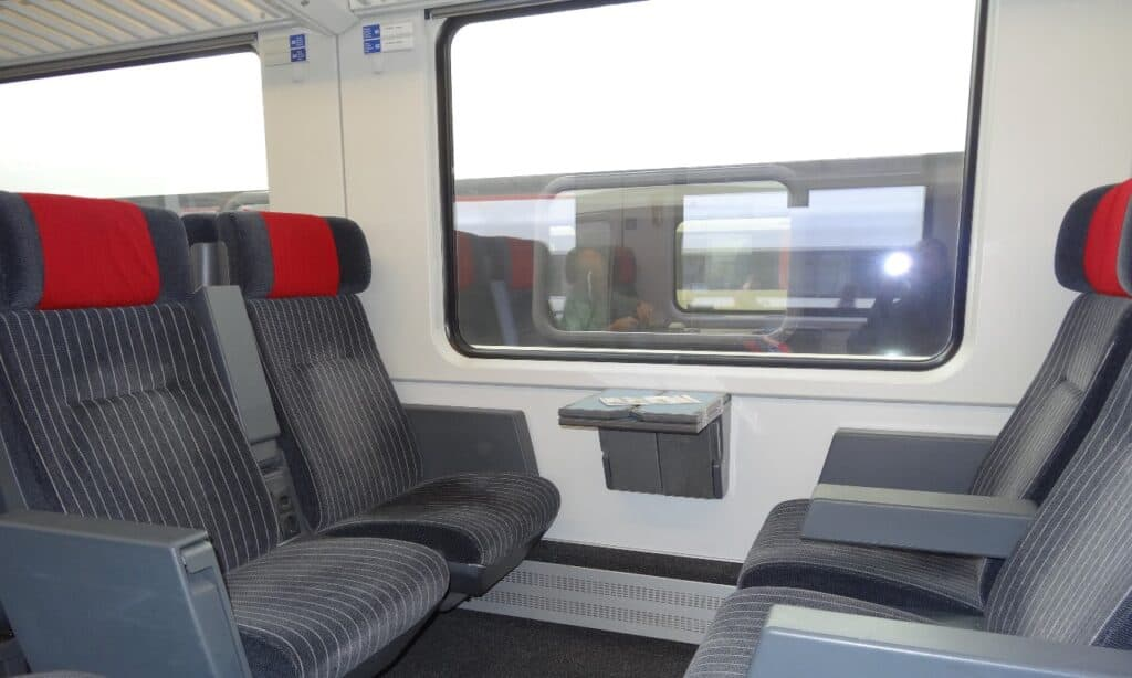 Swiss trains are comfortable